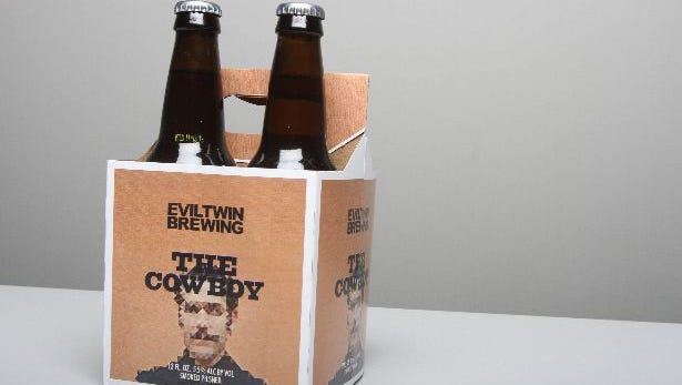 The Cowboy beer for the beer swap at The Journal News in White Plains Jan. 31, 2014.