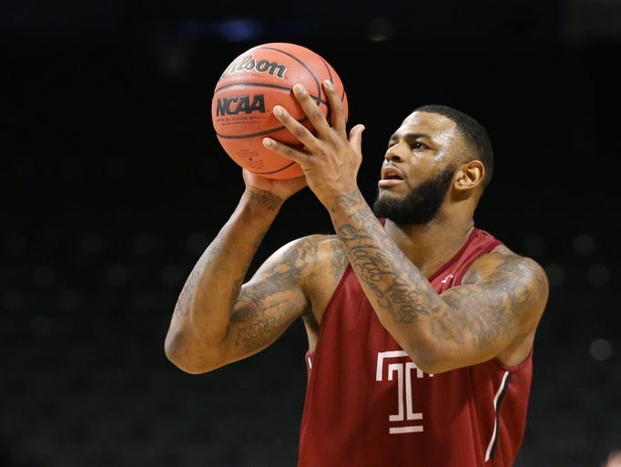 Temple Owls forward Jaylen Bond during a practice day