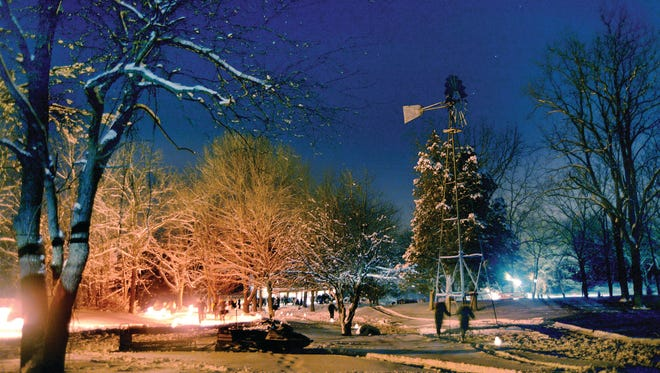 Winter enthusiasts turned out during a previous year's event at Lapham Peak State Park for a candlelight ski and hike. A lack of snow means this year's event will be just a hike.