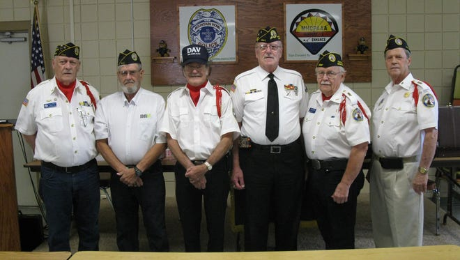 The Mountain Home  Disabled American Veterans (DAV) Chapter 30 recently elected officers for the year 2018-19. Elected were: (from left) Larry O'Meara, Sr. Vice Commander; Larry Barker, Service Officer; David Butts, Treasurer; Dan Hall, Commander; Mike Nighbert, Adjutant; and George Wolford, Chaplain.