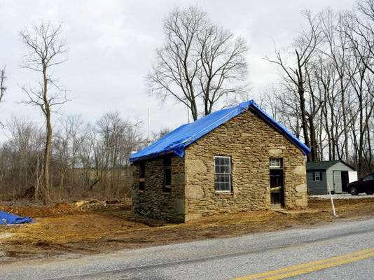 This is the stone one-room school house that is being restored. It's possible the school dates back to the 1830s or 1840s.