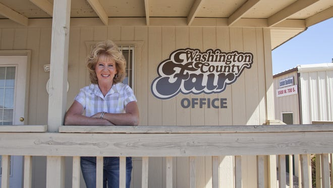 Fair Director Wendy Sandburg is the backbone of the annual Washington County Fair. Tuesday, Sept. 16, 2014.