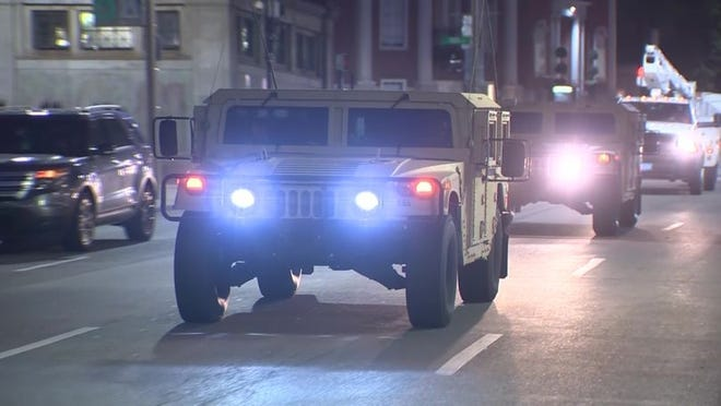Massachusetts Gov. Charlie Baker on Thursday activated members of the National Guard to assist communities in the event of large protests in the coming days.