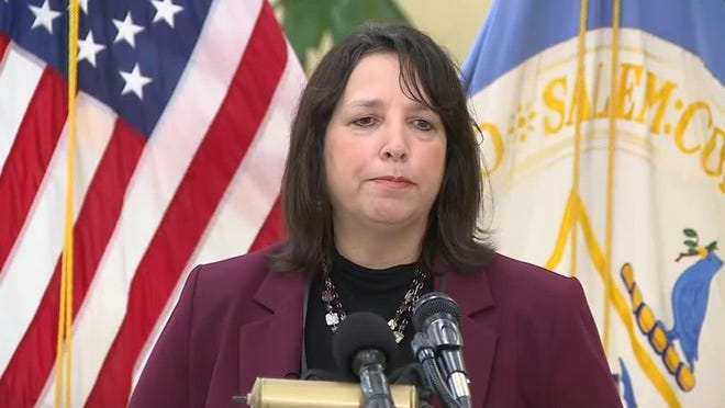 Salem Mayor Kim Driscoll is pleading with Halloween revelers to stay away this year.