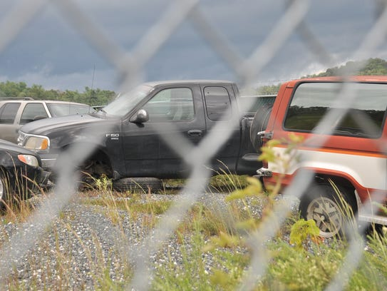 A black Ford F-150 found at the scene of an investigation
