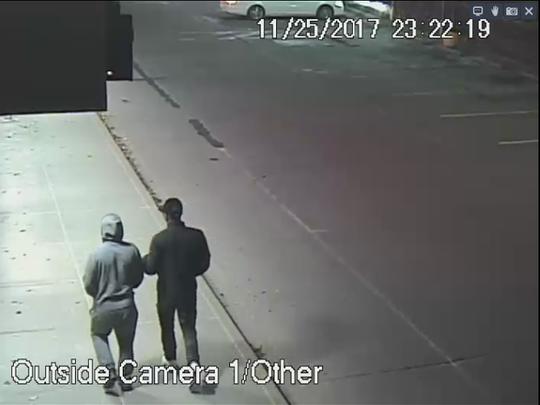 A screenshot from a surveillance video taken at 11:22