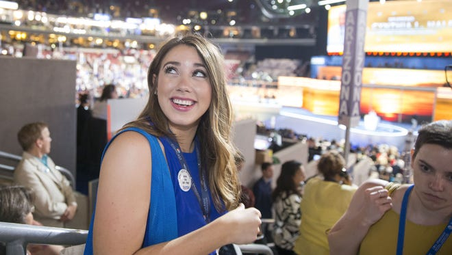 """Belén Sisa, a """"dreamer"""" and Arizona State University student, is seen here at the 2016 Democratic National Convention."""