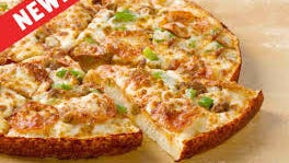 "Papa John's is testing pan pizza, like this one called ""Pan John's Favorite,"" for the first time in a decade."