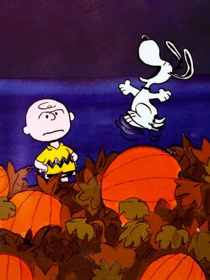 Charlie Brown and Snoopy await the annual appearance of the Great Pumpkin, due Thursday at 8 ET/PT on ABC.
