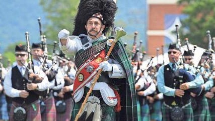 Gallabrae -- The Greenville Scottish Games are held each year in May.