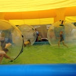 """""""Wow Bubbles"""" have been a popular feature at the Farmer's Pike Festival west of Hagerstown in Henry County."""