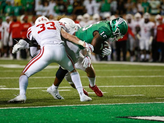North Texas running back Tre Siggers is second in the conference in rushing yards per game.