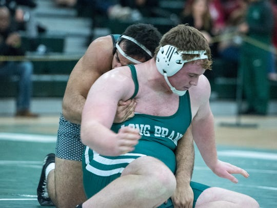 Raritan's Ethan Wolf bumped up to heavyweight and defeated
