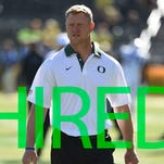 Oregon defensive coordinator Scott Frost was hired as the head coach at UCF on Dec. 1st