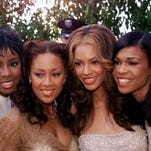 Farrah Franklin( second from left) arrives with the rest of R&B group Destiny's Child at the 42nd Annual Grammy Awards in 2000.