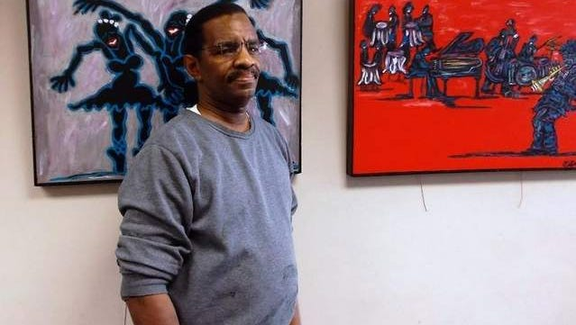 """Tinton Falls artist Demetrius Patterson exhibits his """"Paintings of Delight"""" at the Long Branch Free Public Library in February."""
