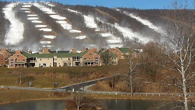 Snowmaking is going full blast at Whitetail Resort for a Thursday. A resort Webcam on Tuesday records the progress.