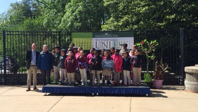 Broad Street School students were awarded third place in the Albert M. Greenfield Unless Contest on May 16 during a visit to the Philadelphia Zoo.