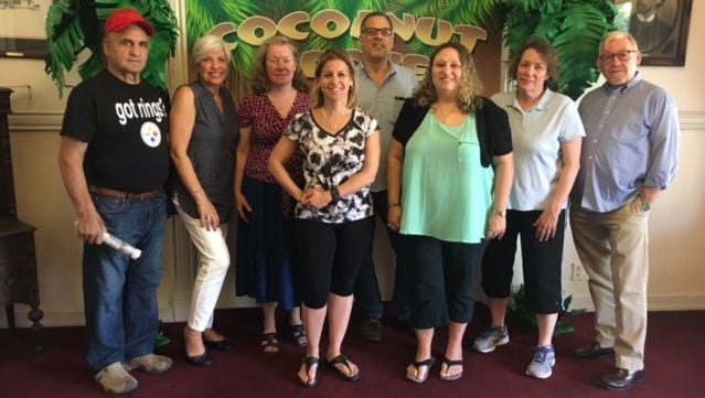 """Cast members for Elwyn New Jersey's production of """"Murder in the Mansion III: 1930s Hollywood,"""" an interactive, murder mystery play, take a break from rehearsals for the show, which opens April 21 in the Maxham Mansion at 1667 E. Landis Ave., in Vineland."""