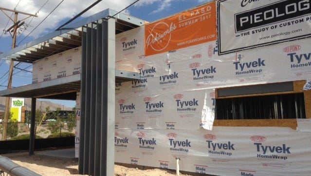 Pokéworks and Pieology Pizzeria are under construction at 6951 N. Mesa St., near the Whole Foods Market in West El Paso.