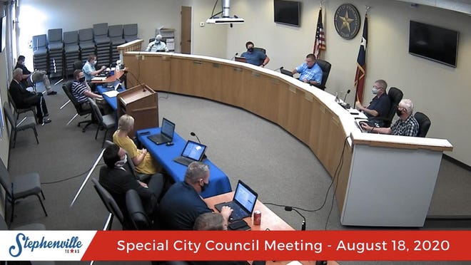 Stephenville City Council members discuss expanding the loan/grant program during Tuesday's meeting.