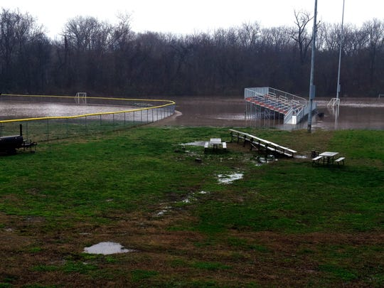 The baseball and football fields at Lighthouse Christian
