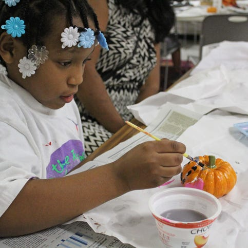 Pumpkin craft makes smashing hit at library