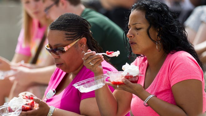 The 50th annual Strawberry Festival will take place June 11 on Monument Circle outside Christ Church Cathedral.