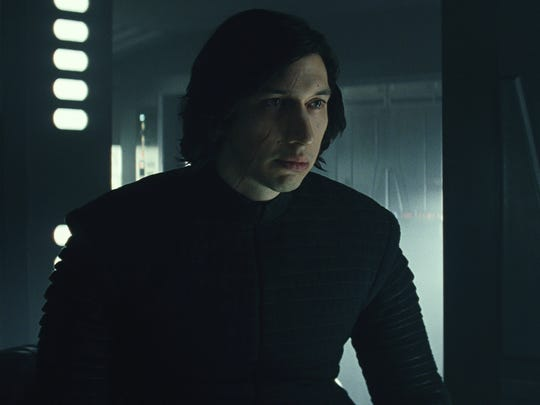 Kylo Ren (Adam Driver) returns to threaten the Resistance in 'Star Wars: The Last Jedi.'