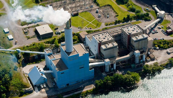What is the future of the Cayuga power plant?