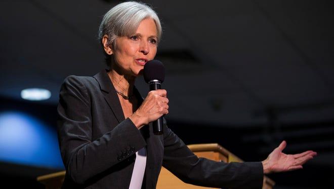 Jill Stein speaks in Wilkes-Barre, Pa., on Sept. 21, 2016.