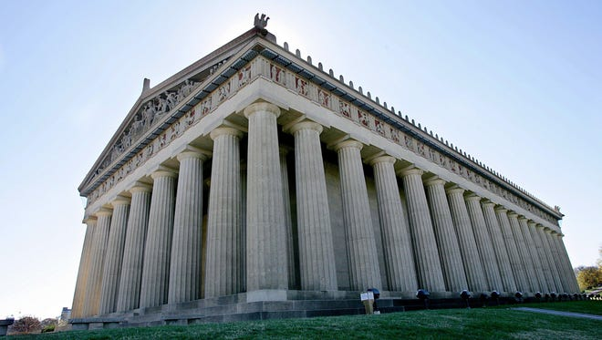 The Parthenon at Centennial Park in Nashville Thursday, Nov. 2, 2006, is one of the Seven Wonders of Tennessee.