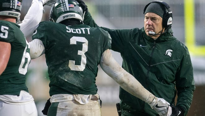 Mark Dantonio is thankful for the way his team has responded this season.
