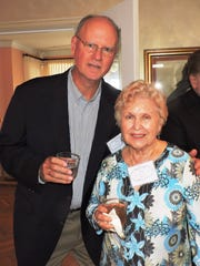 John Glynn, president of Mary's Shelter board of directors, and Jan Lindsey, co-founder of the non-profit, on March 12 at the home of May and Vincent Smyth.