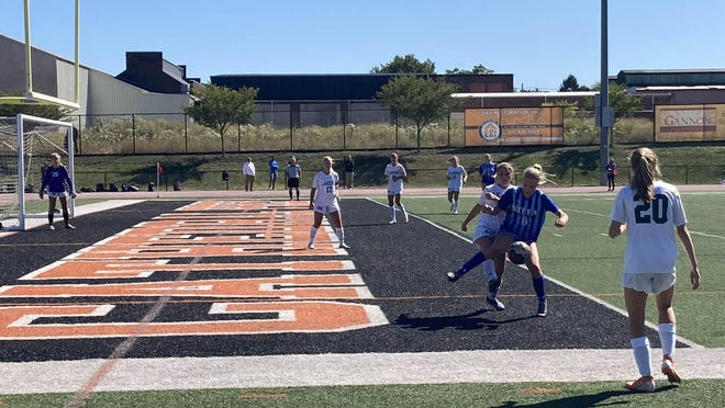 The Villa Maria and Mercyhurst Prep girls soccer teams meet Saturday, Sept. 19, 2020, at Dollinger Field.