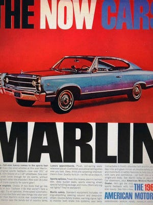 The second and final generation Marlin arrived in 1967 with a six-inch longer 118-inch wheelbase and based on the Ambassador chassis. Sales dropped to just 2,545 units as AMC pulled the plug at the end of the'67 model year. (Compliments former AMC).