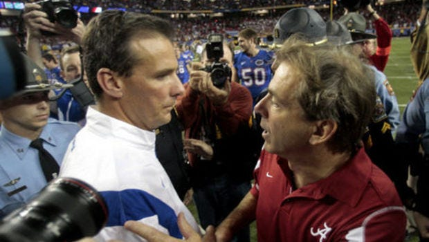 Ohio State coach Urban Meyer went 1-2 against Nick Saban during his time as Florida's head coach.