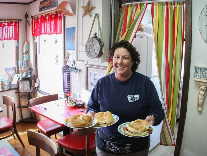 Point Pleasant Beach, NJ      Gail Coulter, owner of The Food Shack, a breakfast/lunch cafe in Point Pleasant Beach.  042314 Photo: Tom Spader/Staff Photographer