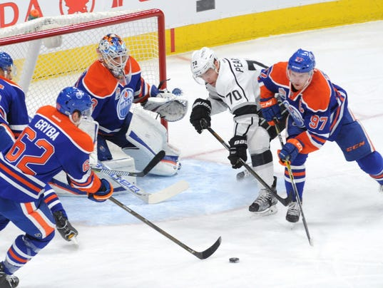 USP NHL: LOS ANGELES KINGS AT EDMONTON OILERS S HKN EDM LAK CAN AL