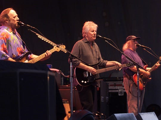 2003: From left, Stephen Stills, Graham Nash and David Crosby at the Iowa State Fair Grandstand.