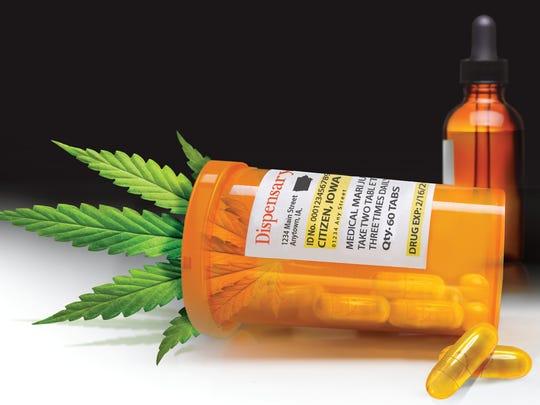 Illustration depicting medical marijuana.