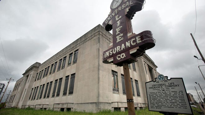 Jimmie Tucker and Juan Self, principals of Self-Tucker Architects, plan to redevelop the historic Universal Life Insurance building in downtown Memphis.