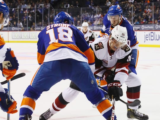 In a faceoff between the two Strome brothers on Friday,