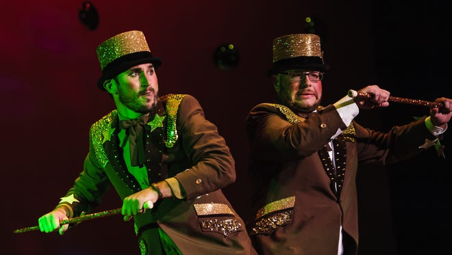 In this 2015 file photo, Keern Haslem, left, and Jeff Kuratnick dance to ShaBob choreographed by Sarah Dassinger during the Dancing With The Stars competition at Mansfield Theater in the Civic Center.