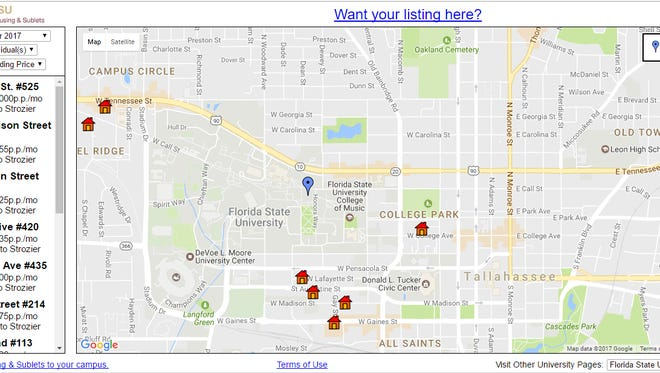 The sublease market is simplified by centralizing all student sublease listings on a digital map.