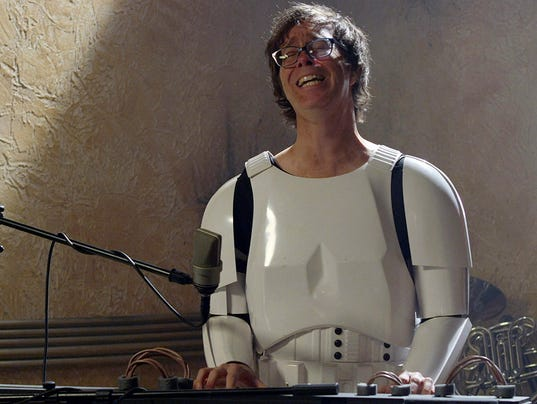 """Ben Folds as a """"Star Wars"""" Imperial Stormtrooper"""