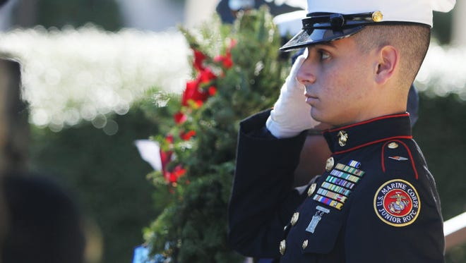 Local JROTC members celebrated the annual Wreaths Across America event to honor the service of troops.