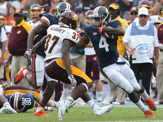 NCAA Football: Central Michigan at Virginia