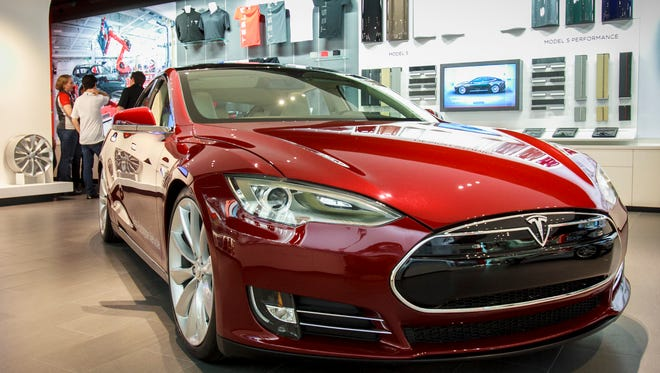 Tesla Motors in 2012 opened a store at the Scottsdale Fashion Square. State law prohibits the company from making direct sales; customers must buy the electric cars online.