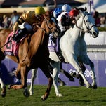 Wise Dan, left, was unable to go for a three-peat in the Breeders' Cup Mile but could go for three straight in the Woodford Reserve Turf Classic.